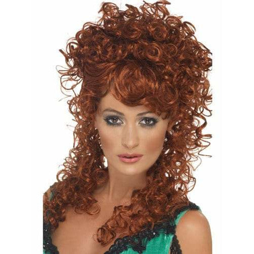 Ladies Auburn Saloon Girl Wig