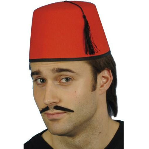Red Fez Hat With Black Tassel