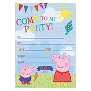 Peppa Pig Party Invitations - mypartymonsterstore