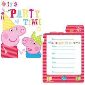Peppa Pig Its Party Time Party Invitations
