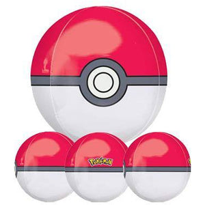 Pokemon Poke Ball Orbz Balloon - mypartymonsterstore
