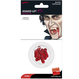 Fake Blood Capsules 10pk - mypartymonsterstore
