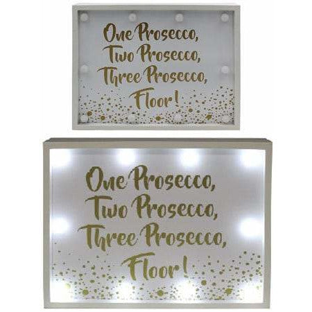 Prosecco Floor LED Light Up Sign