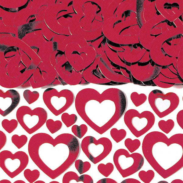 Red Heart Shimmer Metallic Confetti