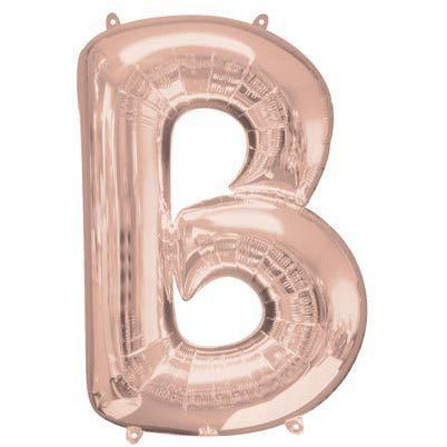 Rose Gold Large Letter B Balloon