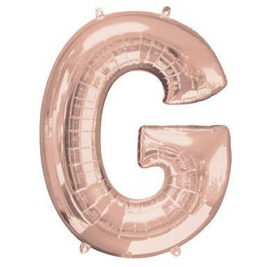 Rose Gold Large Letter G Balloon