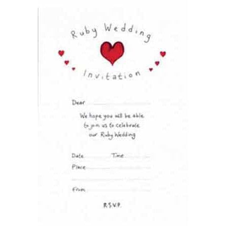 Ruby Wedding Party Invitations