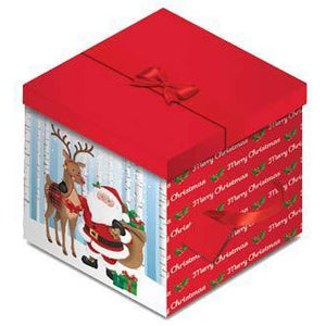 Santa And Reindeer Christmas Gift Box