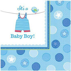 Shower With Love Baby Boy Paper Napkins 16pk