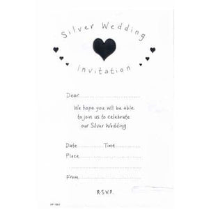 Silver Wedding Party Invitations