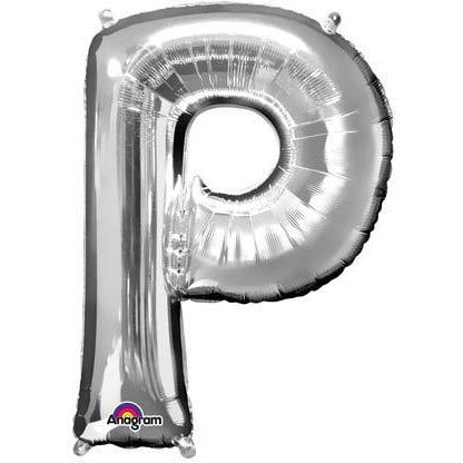 Silver Large Letter P Balloon