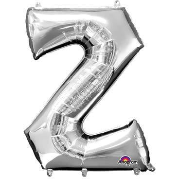Silver Large Letter Z Balloon