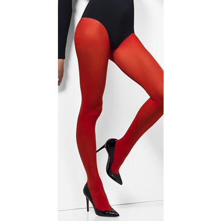 Red Opaque Tights