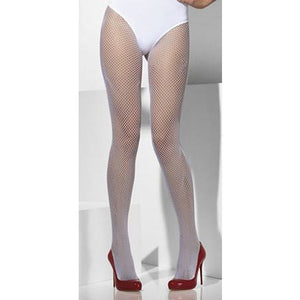 White Fishnet Tights