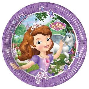 Sofia The First Paper Plates - mypartymonsterstore