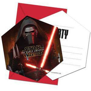 Star Wars The Force Awakens Party Invitations