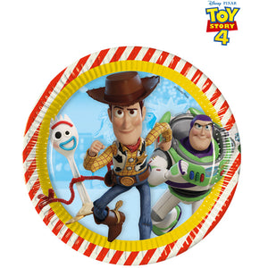 Toy Story 4 Paper Plates 8pk - mypartymonsterstore