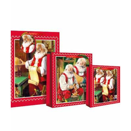 Traditional Santa Stamp Christmas Gift Bags