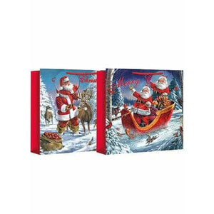 Traditional Santa Square Jumbo Christmas Gift Bag