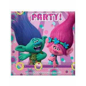 Trolls Paper Party Napkins - mypartymonsterstore
