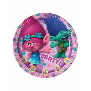 Trolls Paper Party Plates - mypartymonsterstore