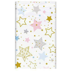 Twinkle Twinkle Little Star Plastic Tablecover - mypartymonsterstore