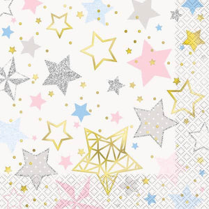 Twinkle Twinkle Little Star Lunch Napkins - mypartymonsterstore