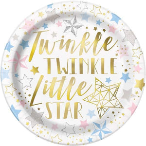 Twinkle Twinkle Little Star Paper Plates - mypartymonsterstore
