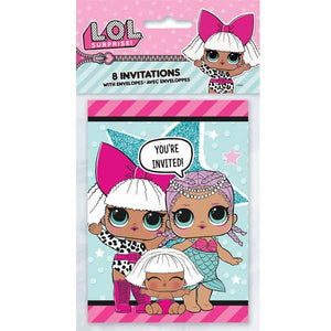 L.O.L Surprise Party Invitations