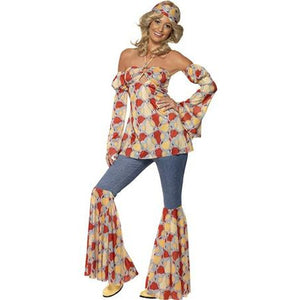 Vintage Hippy 1970'S Costume - mypartymonsterstore