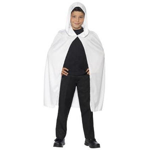 White Hooded Cape - mypartymonsterstore