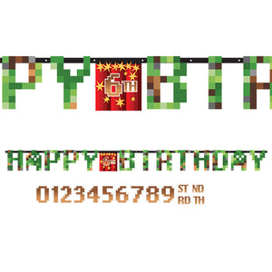 TNT Party Birthday Letter Banner