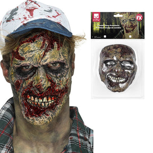 Zombie Face Prosthetic - mypartymonsterstore