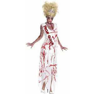 High School Horror Zombie Prom Queen Costume - mypartymonsterstore