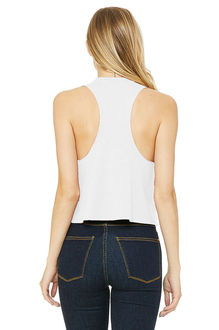 The Women's Crop Tank - White - Home By Nine