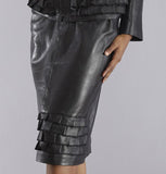FASHIONED STYLE LEATHER DRESS SET FOR WOMEN
