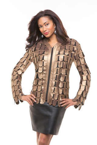 WOMEN'S CLASSIC LEATHER JACKET FOR OUTINGS