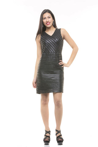 CHARMING WOMEN'S LEATHER DRESS FOR ANY SEASON