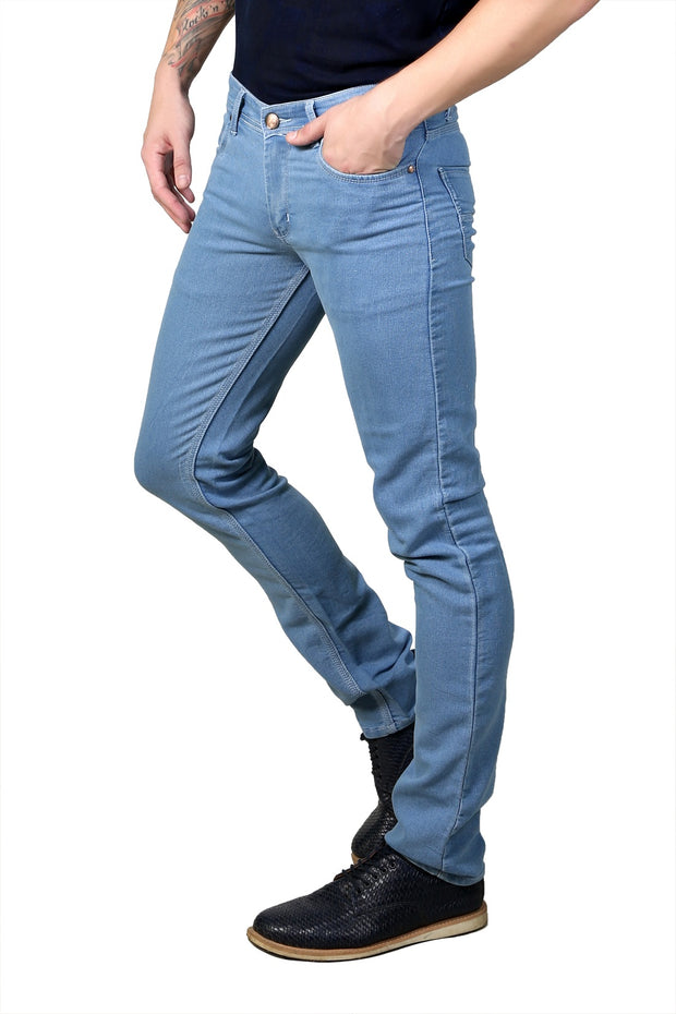 Styrrior 2111 - Narrow Fit Classic Basic Sky Blue Dobby Denim
