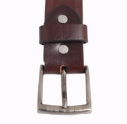 Men Brown Leather Belt