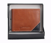 Styrrior 2252 - Tan & Black Leather Two Fold Wallet
