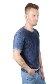 Styrrior 2103 - Indigo Denim Washed Round Neck Tshirt