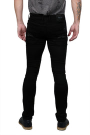Styrrior 2141 -Super Slim Fit Plain Black Knitted Denim