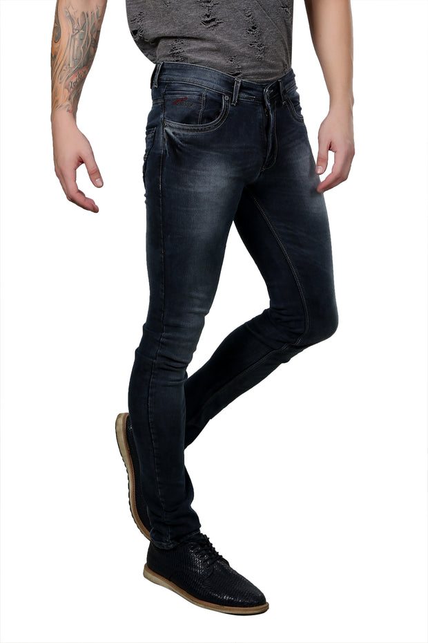 Styrrior 2142 - Super Slim Knitted Grayish Blue Denim