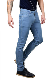 Styrrior 2144 - Narrow Fit Classic Basic Sky Blue Knitted Denim