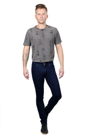 Styrrior 2146 -Slim Narrow Fit Classic Basic Dark Ink Blue Dobby Denim
