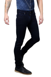 Styrrior 2152 - Slim Narrow Fit Classic Basic Dark Ink Blue Knitted Denim