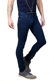 Styrrior 2159 - Slim Narrow Fit Classic Basic Peacock Blue Dobby Denim