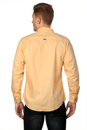 Styrrior 2161 - Slim Fit Light Orange Solid Cotton Shirt