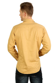 Styrrior 2165 - Slim Fit Self Checks Light Brown Cotton Shirt